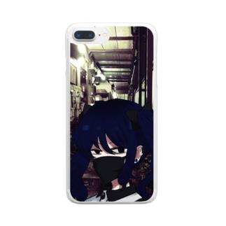 ガンつけ美少女/実家付き Clear smartphone cases