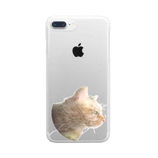 """ねこだに""""ゃん"""" Clear smartphone cases"""