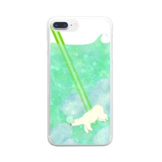 くまさんのメロンソーダ Clear smartphone cases