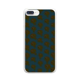 ぞんびのうずいさん Clear smartphone cases