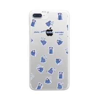 ちょこちょこ動こうアマビエちゃんランダム Clear smartphone cases