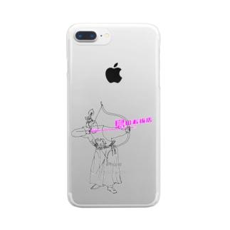呂布✖️島田看板店 Clear smartphone cases