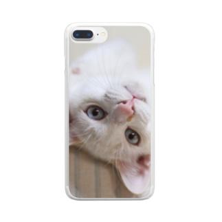 招き猫 珀ちゃん Clear smartphone cases