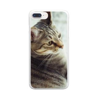 うちの猫ちゃん Clear smartphone cases