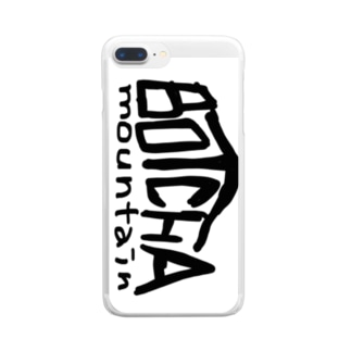 BOTCHA mountain Clear smartphone cases