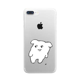 よよ(しろ) Clear smartphone cases