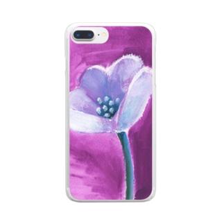 あるフラワー Clear smartphone cases