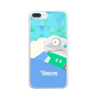 おやすみモンスティス Clear smartphone cases