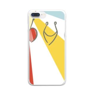 カラフルインコ Clear smartphone cases