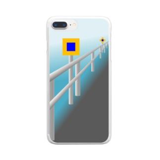 投雪禁止区域指定標示板 Clear smartphone cases