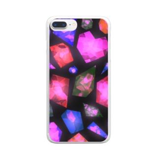 煌めく宝石スマホケース Clear smartphone cases