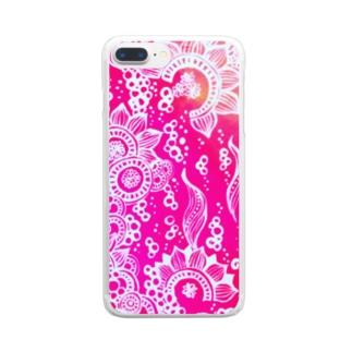 「乱舞」 Clear smartphone cases
