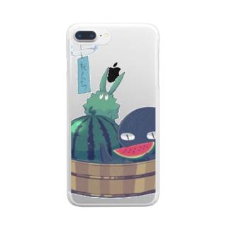 トゲトゲとトカゲ(夏) Clear smartphone cases