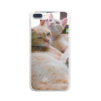 仲良し Clear smartphone cases