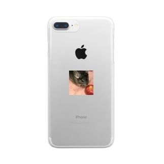 りんごくんくん Clear smartphone cases