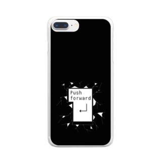 突き進め モノクロ2 Clear smartphone cases