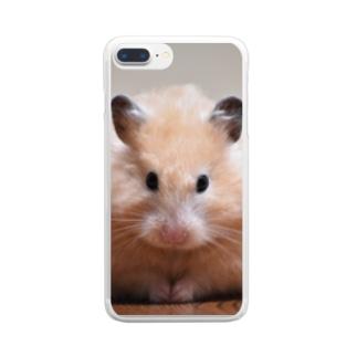 だるまるいず Clear Smartphone Case