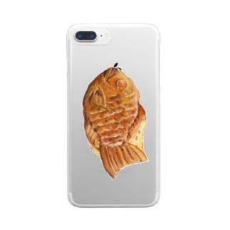 たい焼き Clear smartphone cases