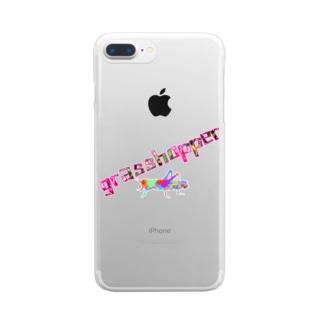 グラスホッパー Clear smartphone cases