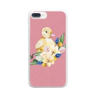 ひよこ日和 Clear smartphone cases