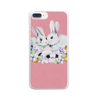うさぎ日和 Clear smartphone cases