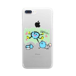青だまが絵をかいてみた! Clear smartphone cases