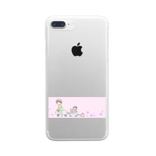 おでかけ Clear smartphone cases