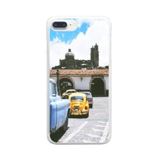 メキシコ:タスコの風景写真 Mexico: view of Taxco Clear smartphone cases