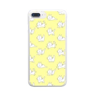 ゲシャアきいろ Clear smartphone cases