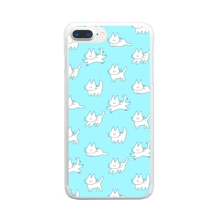 ゲシャアみずいろ Clear smartphone cases