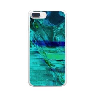 海の中を彷徨う Clear smartphone cases