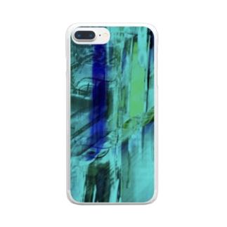 海の中を彷徨う② Clear smartphone cases
