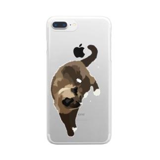 愛猫とてぐせねこ Clear smartphone cases