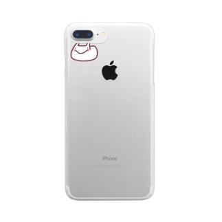うさぎさん見て Clear smartphone cases