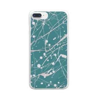 えのぐ白 Clear smartphone cases