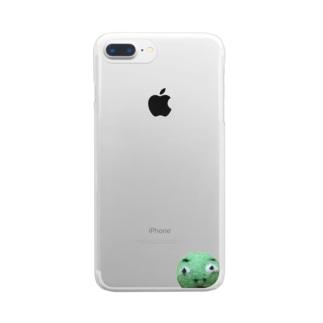 肝臓わるいーまん Clear smartphone cases