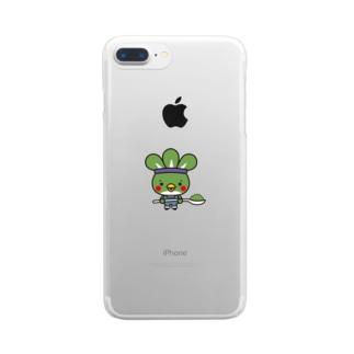 粉どり君 Clear smartphone cases