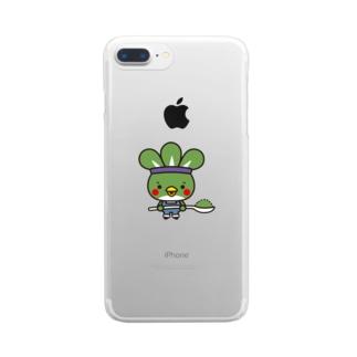 粉ドリ君 Clear smartphone cases