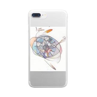 アラベスク2 Clear smartphone cases