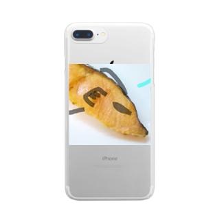 マブダチの強面紅鮭さん。 Clear smartphone cases