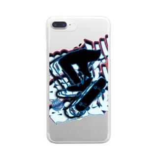 スケボー🛹 Clear smartphone cases