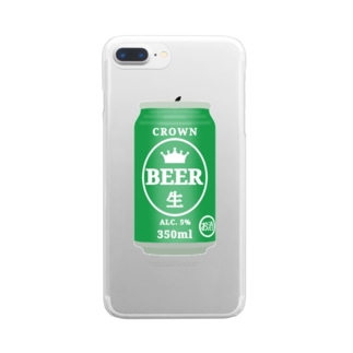 缶ビール Clear smartphone cases