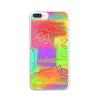 イヌvivid Clear smartphone cases