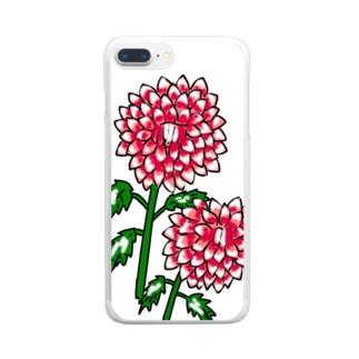 ダリヤ Clear smartphone cases