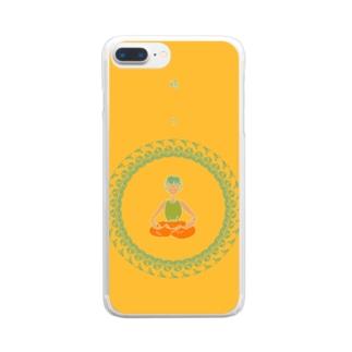 開け、悟り Clear smartphone cases