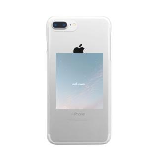 みあげた空はかわいかった… Clear smartphone cases