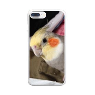 オカメ ピッチョコ Clear smartphone cases