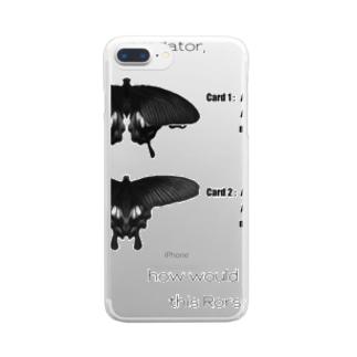 Rorschach test for predators (白) Clear smartphone cases
