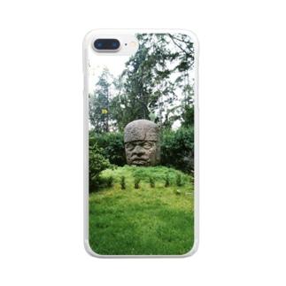 メキシコ:オルメカの巨石人頭像 Mexico: Olmec colossal head Clear smartphone cases