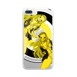 YOU PERV 006 レトロポップ 学園 クラッシュレモンゼリースカッシュ Clear smartphone cases